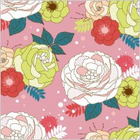seamlessly_flower_vector_background_278284